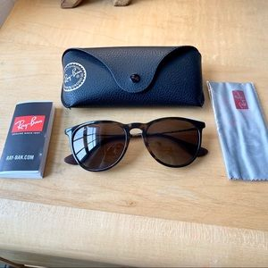 Ray-Ban Erika Polarized Sunglasses Tortoise